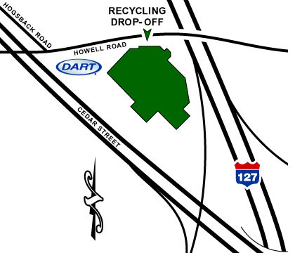 Map of Dart's Mason Recycling Location