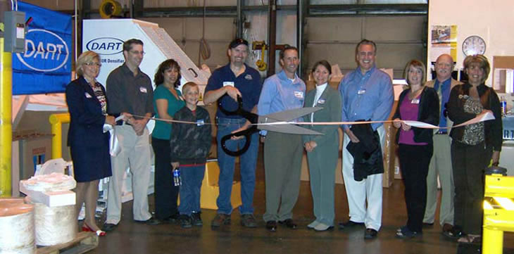 Ribbon Cutting Ceremony at Dart Container Corportaion Lodi, CA recycling drop-off site.