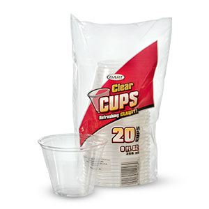 Consumer Clear Plastic Cups
