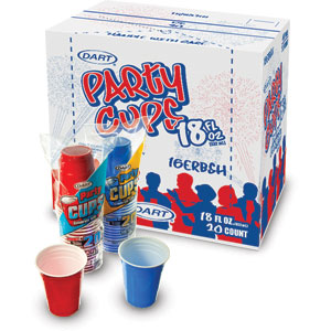Party Cup Display Shipper
