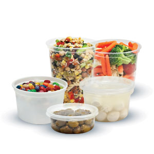 MicroGourmet® Plastic Deli Containers and Lids