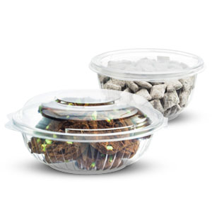 PresentaBowls® Clear Plastic Hinged Lid Bowls
