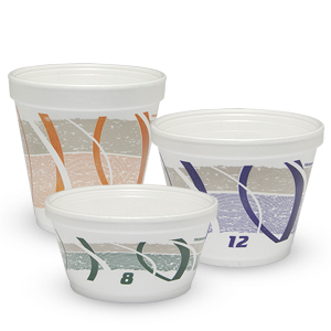 Impulse® Stock Printed Insulated Foam Containers