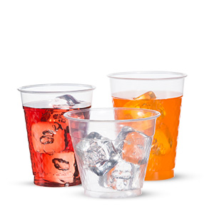 Diamond Tumbler Clear Plastic Cold Cups