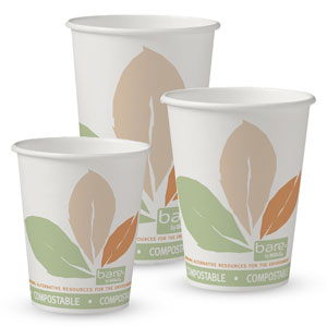 Bare® by Solo® Eco-Forward® SSPLA (Single Sided PLA) Paper Hot Cups