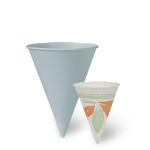 Bare® by Solo® Eco-Forward® Pre-Treated Paper Cone Water Cups
