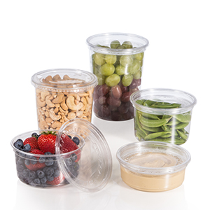 Bare® by Solo® Eco-Forward® RPET Plastic Deli Containers