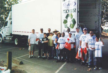 Dart Employees from Lodi, CA plant participate in the Great American River Clean-up