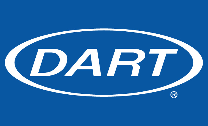 Dart Logo on blue background